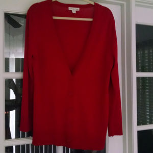 Coldwater Creek Red Cardigan Sweater  Large (14)